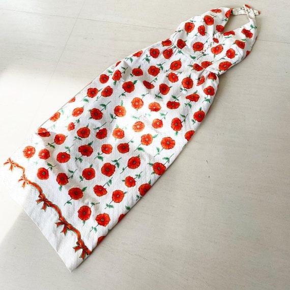 Incredible Poppy Flower Maxi Halter