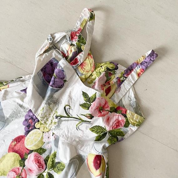 Summery FruitBowl Rose Print Frock - image 8