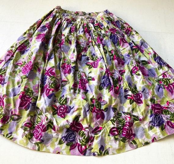 Stunning Flocked Velvet Rose Skirt