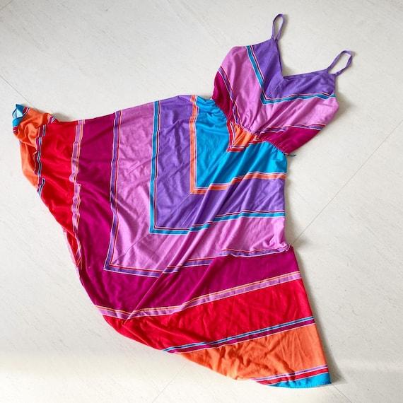 Pretty Rainbow Chevron Dress