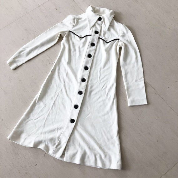 Cool 1970s Cowboy inspired Shirt Dress