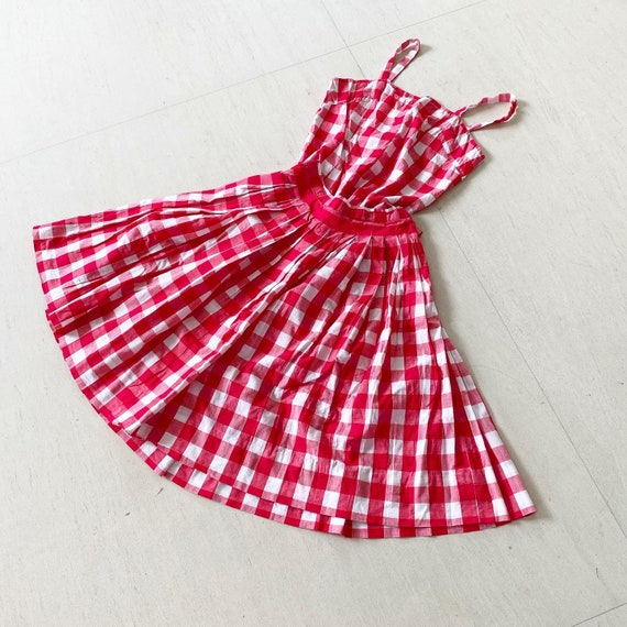 Pretty Gingham Top and Skirt Set