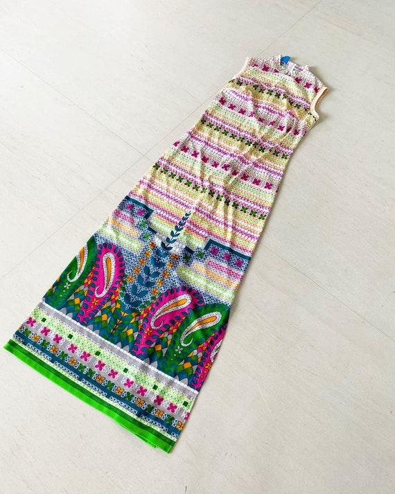 Pretty Paisley Print Maxi Dress