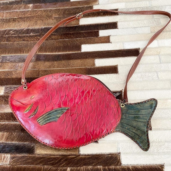 Gorgeous Leather Fish Novelty Purse
