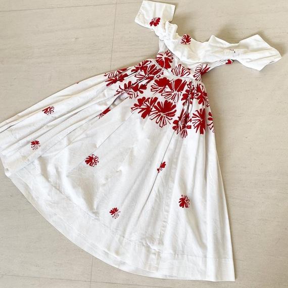 Breathtaking Floral Cotton Pique Dress