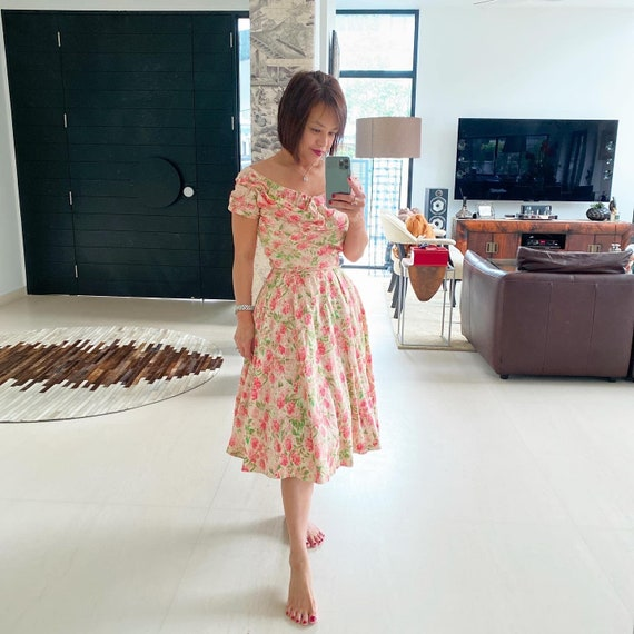 Stunning Ceil Chapman Floral Silk Sundress