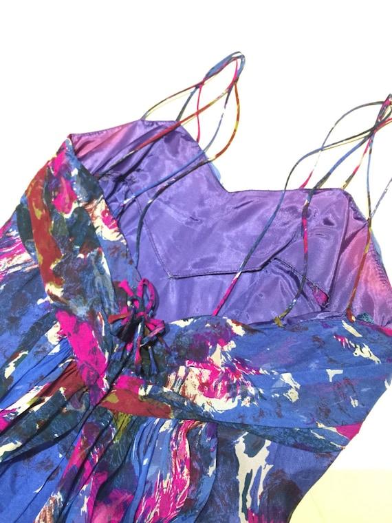 Lovely 50s Carol Robins chiffon dress - image 3