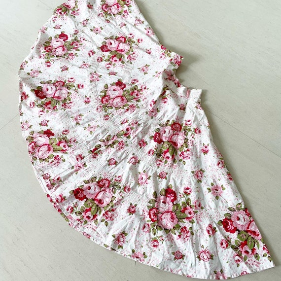 Pretty Pink Floral Full Circle Skirt