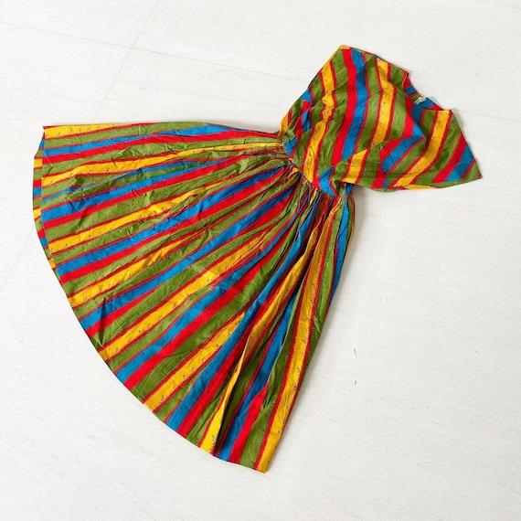 Rainbow Measuring Tape Novelty Print 50s Dress - image 6