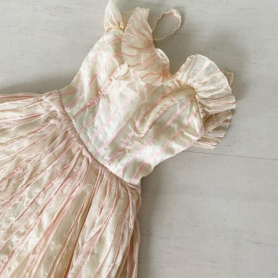 Pretty Pink Ribbon Striped Rappi Dress
