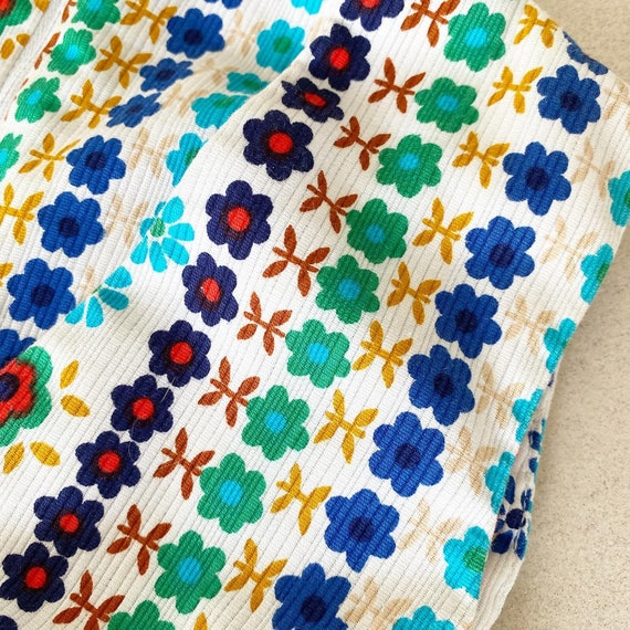 Pretty Colorful Floral 60s Sundress - image 4