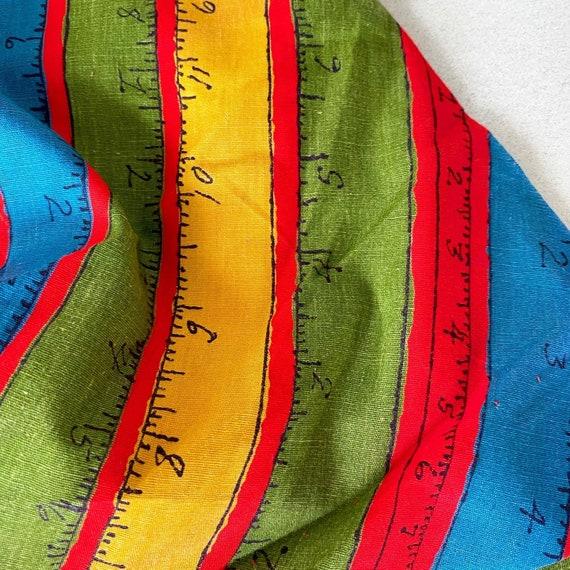 Rainbow Measuring Tape Novelty Print 50s Dress - image 3