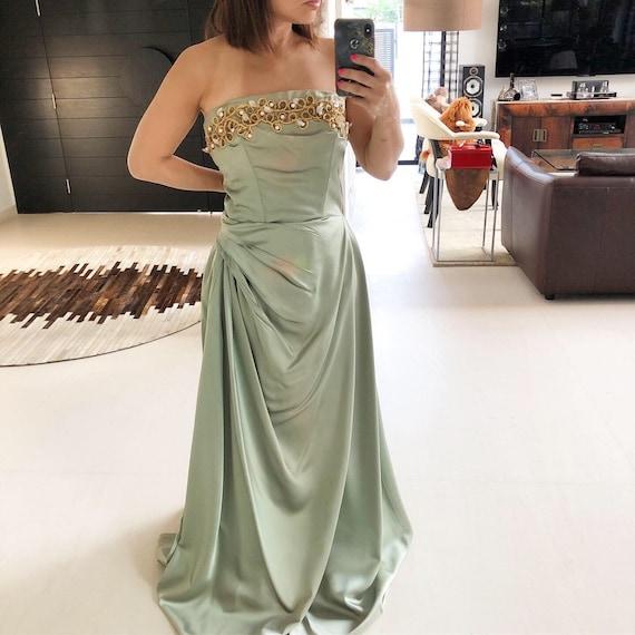 Stunning 50s Olive Green Emma Domb