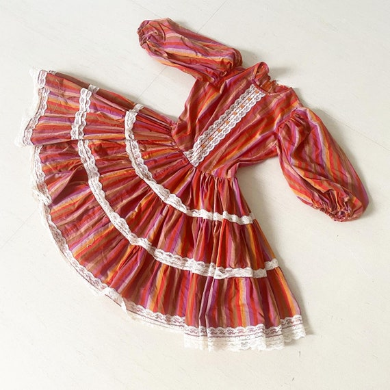 Pretty Full Circle Dress with Balloon Sleeves