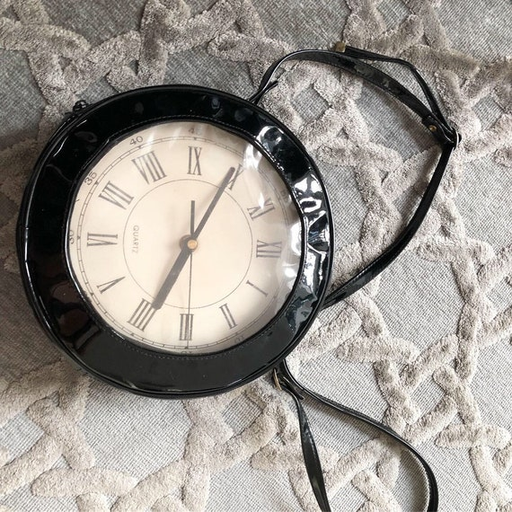 Amazing Tick Tock Working Clock Novelty Purse