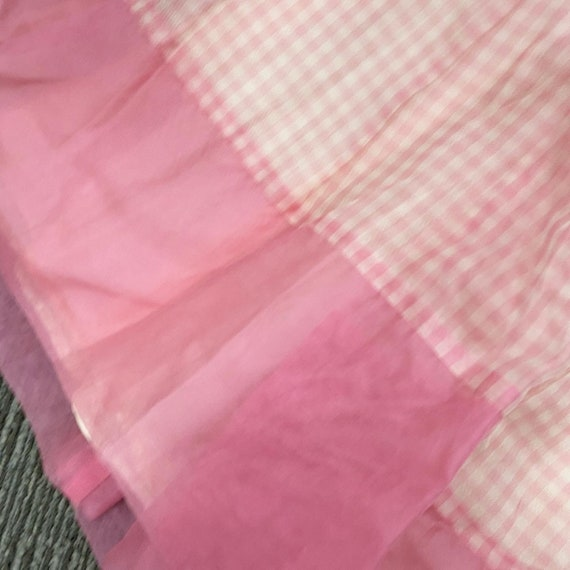 Pretty in Pink 50s Gingham Dress - image 3