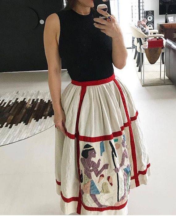 Rare Juli Lynne Charlot Egyptian Novelty Skirt
