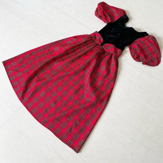 Pretty Red Plaid Lanz Dress