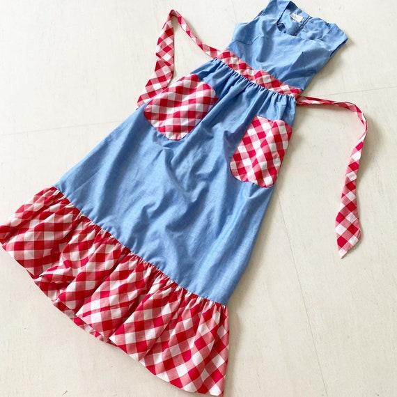 Pretty Gingham Pocket Maxi Prairie Dress
