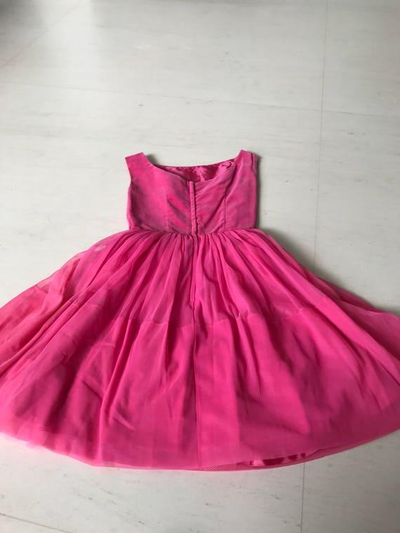 Pretty 1950s velvet chiffon dress - image 4
