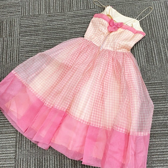 Pretty in Pink 50s Gingham Dress - image 4