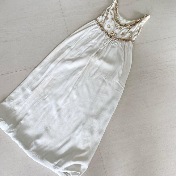 1960s Ceil Chapman Empire Waist Wedding Gown