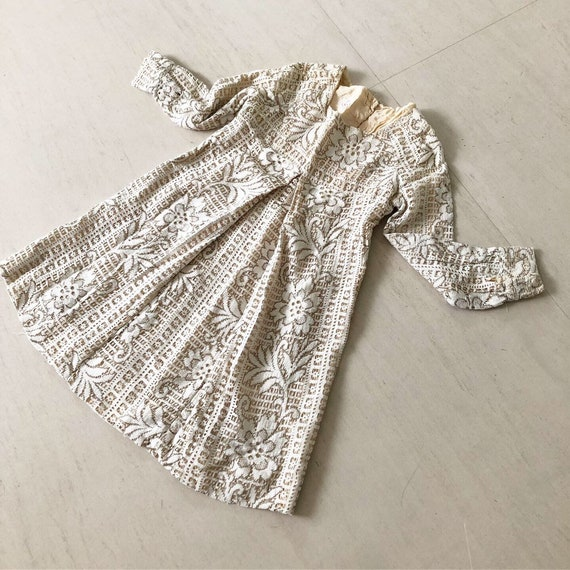 Special 50s Crochet Lace Swing Dress