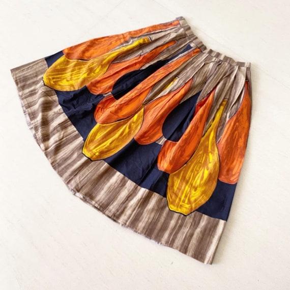 Wonderful Autumny Novelty Print Skirt