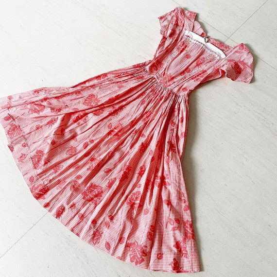 Beautiful Gingham Rose 50s Sundress