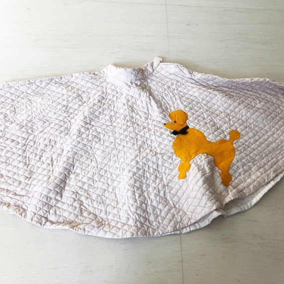 Cute Poodle Quilted Novelty Skirt