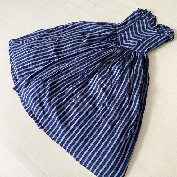 Winter Cool Striped Bustier Maxi Dress