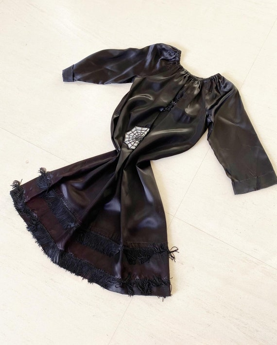 Supercool Black Spider and Web Applique Dress