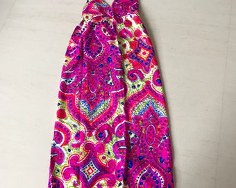 Psychedelic 60s/70s maxi dress