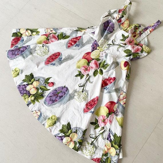 Summery FruitBowl Rose Print Frock - image 7