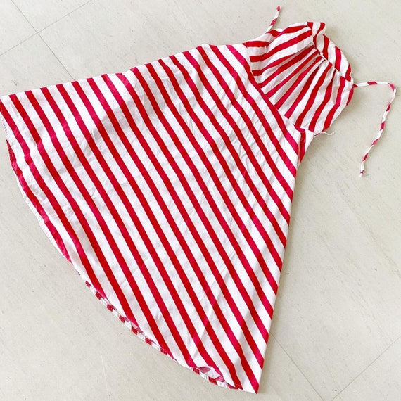 Striking Red and White Striped Sundress