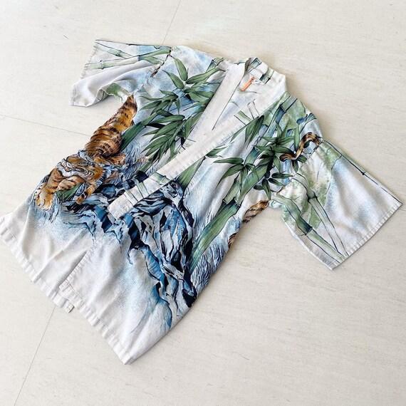 Stunning 40s Tiger Kimono Jacket Top