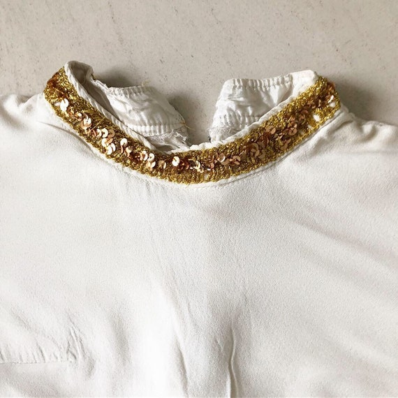 Glamazon 60s Gold Sequinned Babydoll Dress - image 3