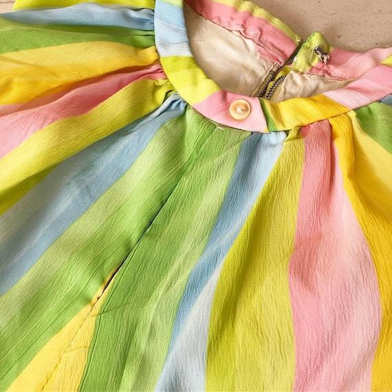Pretty Pastel Rainbow 50s Dress - image 4