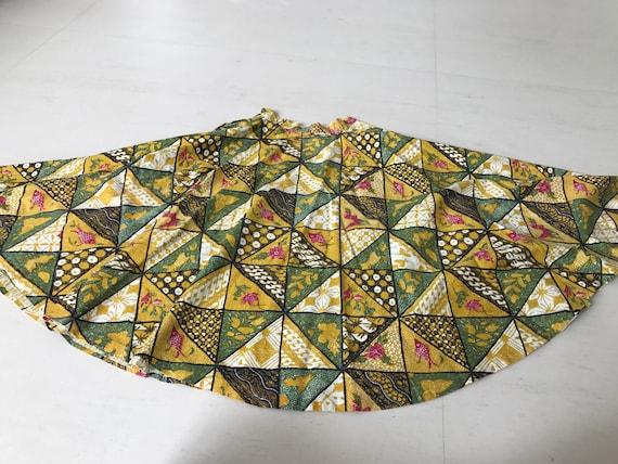 Gorgeous 1950s Full Circle Batik Skirt