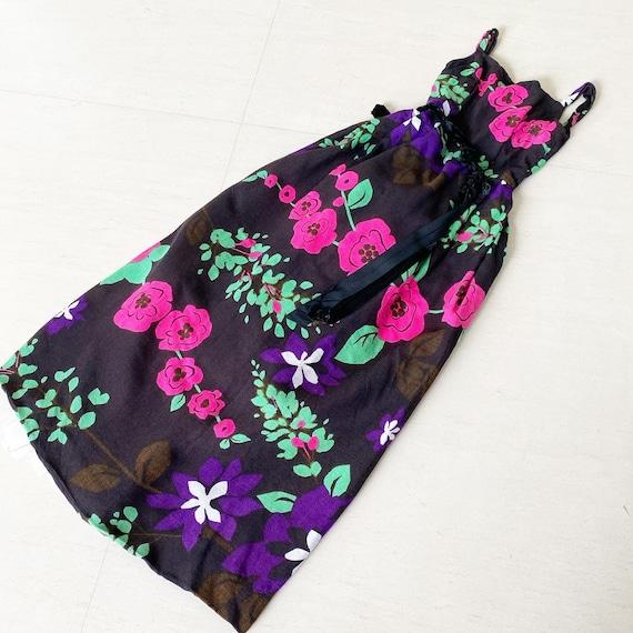 Gorgeous Poppy Flower 60s Maxi Dress