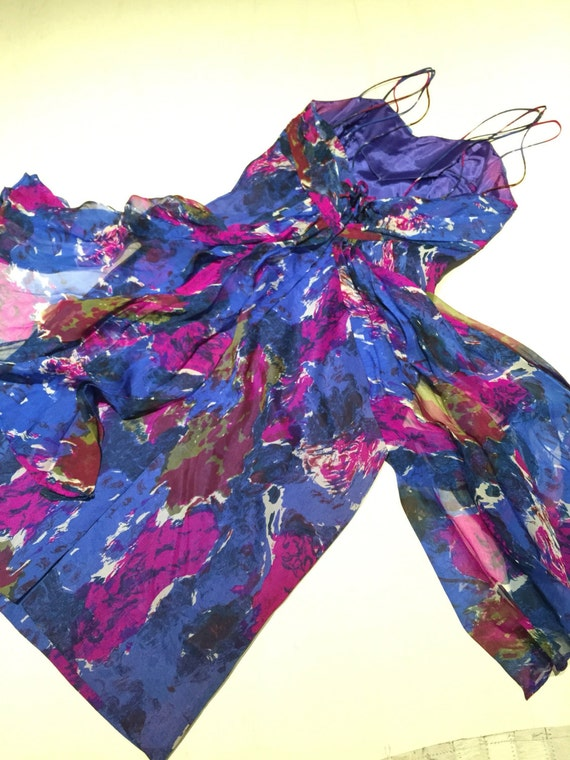 Lovely 50s Carol Robins chiffon dress - image 4