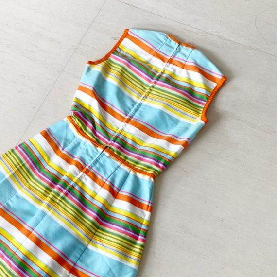 Gorgeous 60s Rainbow Stripe Pat Premo Dress - image 5