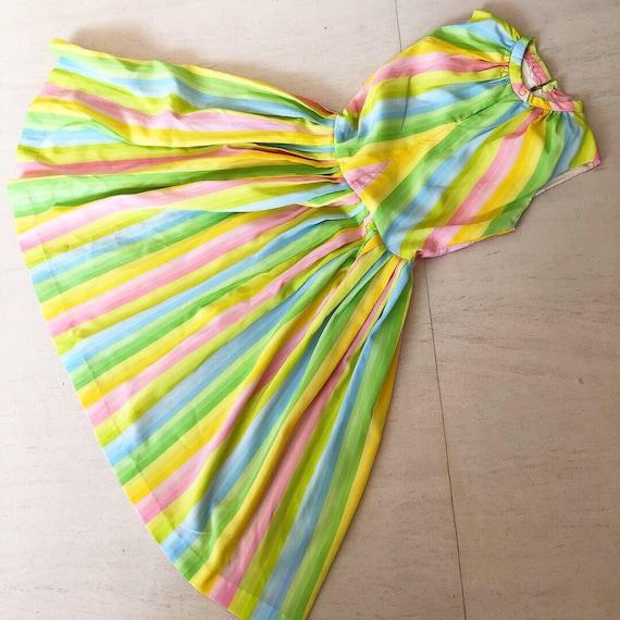 Pretty Pastel Rainbow 50s Dress