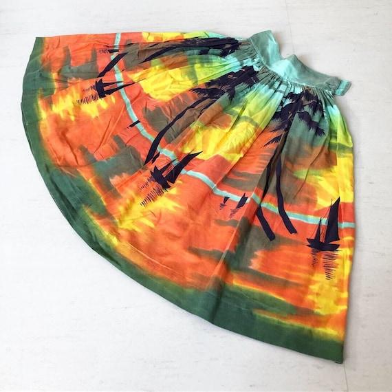 Gorgoeus Sunset Novelty Skirt