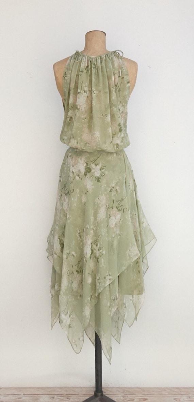 Beautiful Silk Chiffon asymmetrical dress