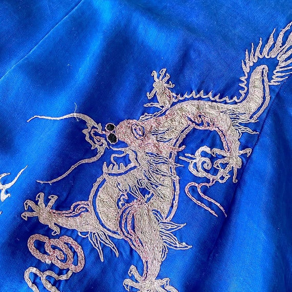 Amazing Embroidered Dragon Phoenix 40s Dress - image 4
