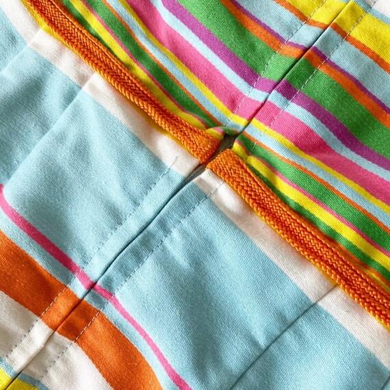 Gorgeous 60s Rainbow Stripe Pat Premo Dress - image 8