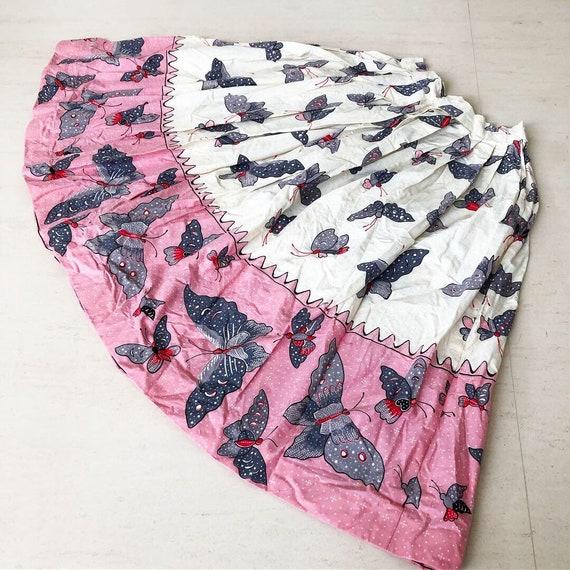 Pretty Monarch Butterfly Novelty Print Skirt