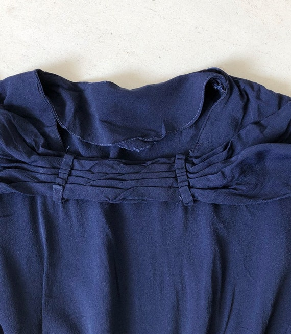 Timeless 1940s Navy Rayon Dress - image 4