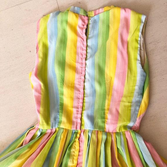 Pretty Pastel Rainbow 50s Dress - image 7